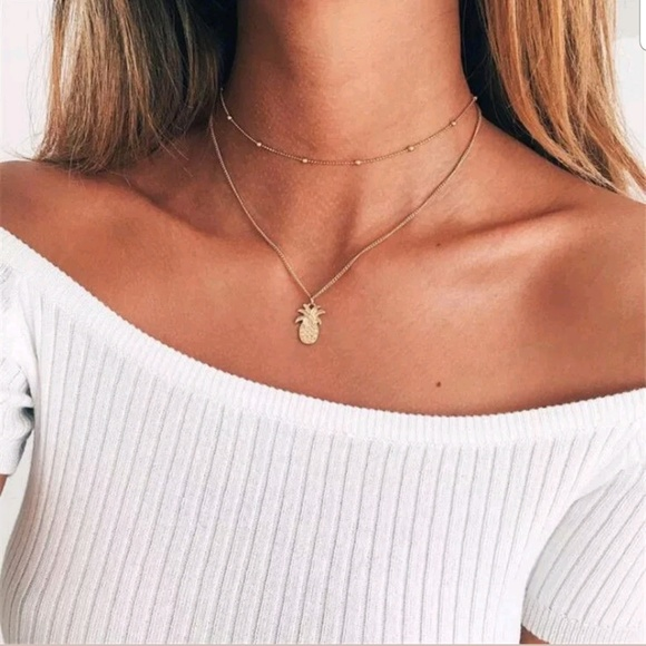 Jewelry - Boutique | Gold Layered Pineapple Necklace
